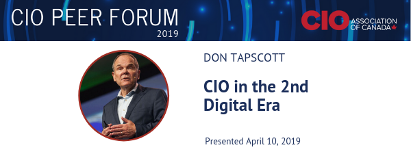 CIOPF2019 CIO in the 2nd Era of the Digital Age